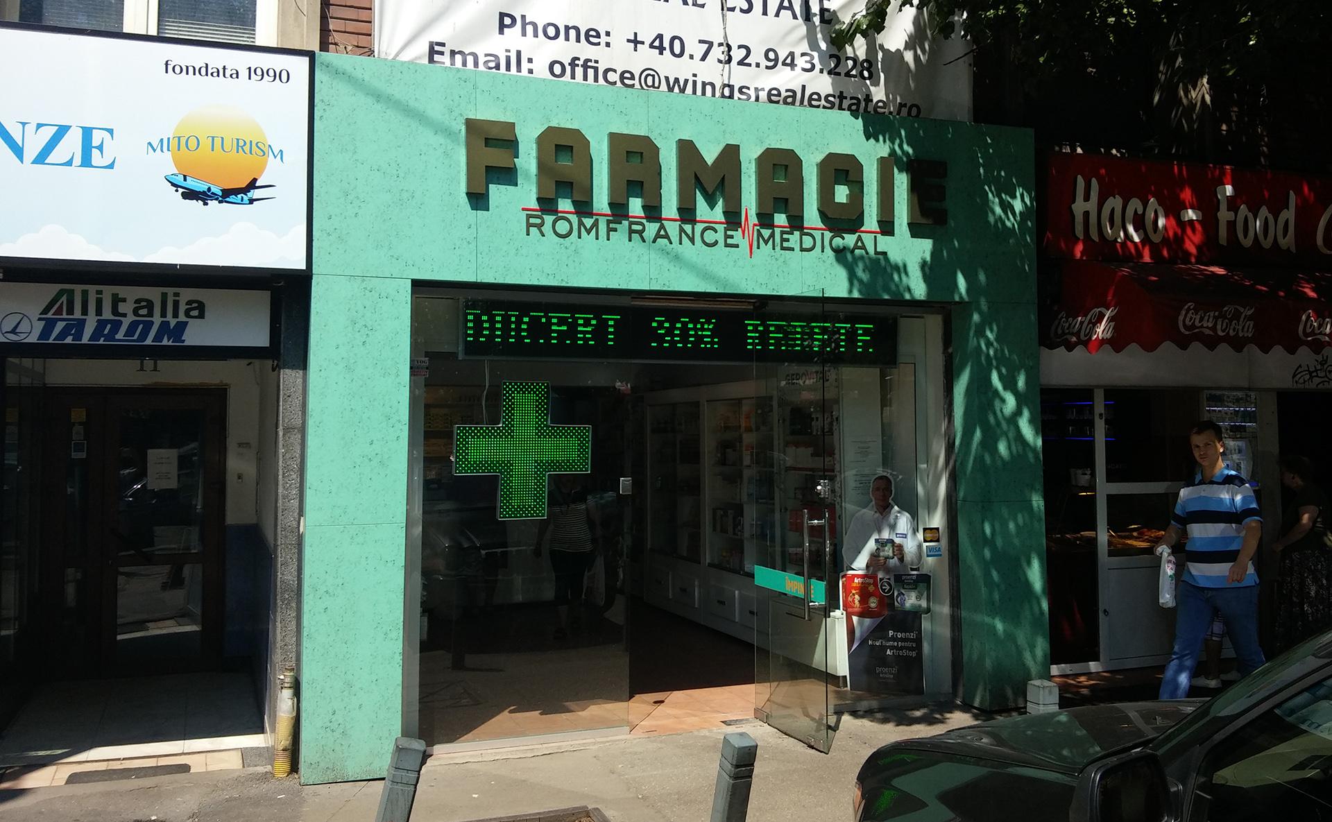 amenajare fatada farmacie