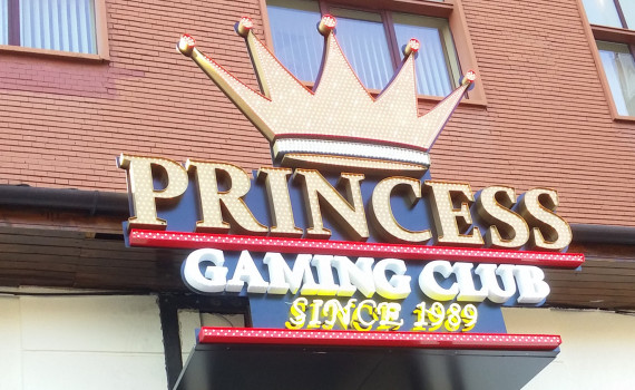 firma luminoasa LED princess casino