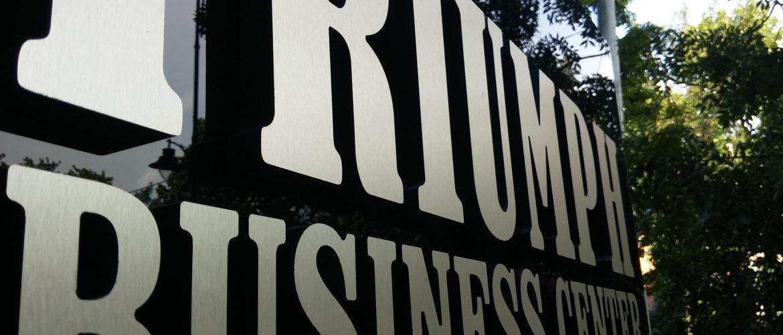 logo metalic aluminiu & PVC