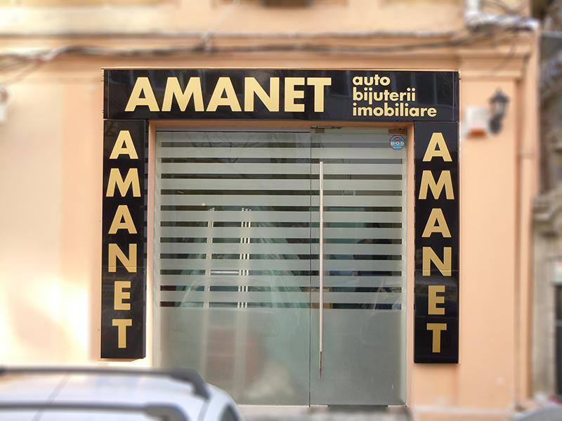 amanet- pazie alucobond negru lucios