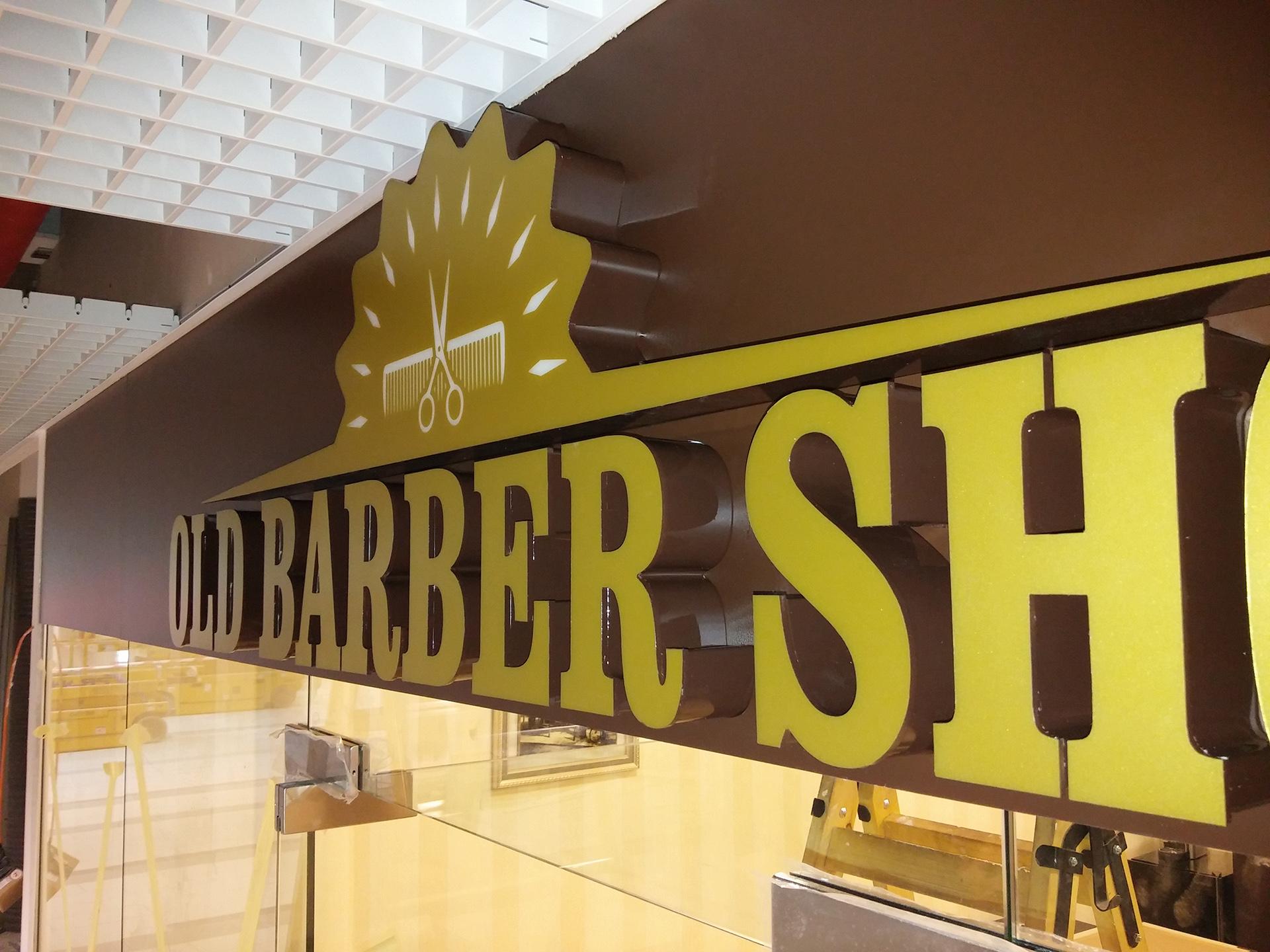 old barber shop litere LED